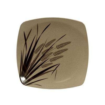 Rice Paddy Natural Small Square Plate (3-Pack)