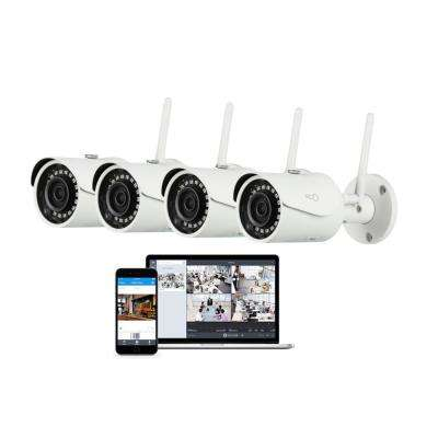 Pro Bullet Outdoor/Indoor 1080p Cloud Surveillance and Security Camera with Remote Viewing (4 Pack)