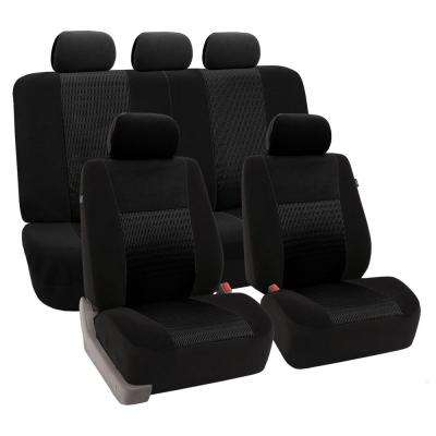Fabric 47 in. x 23 in x 1 in. Deluxe 3D Air Mesh Full Set Seat Covers
