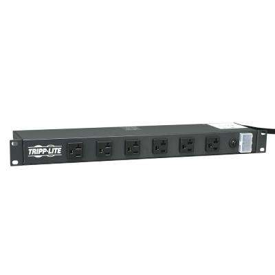 Power Strip Rackmount Metal 120-Volt 5-20R 12-Outlet 15 ft. Cord 1URM