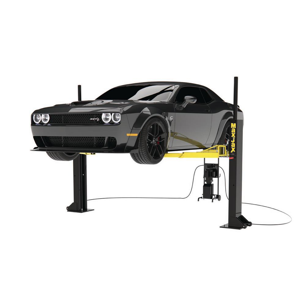 Dannmar Maxjax 6 000 Lb 2 Post Portable Car Lift Dmj 6 The Home Depot