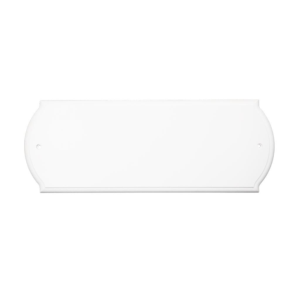 Rectangular White Address Plaque