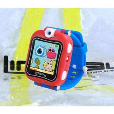 1.5 in. Smart Watch Kids Cam Selfie with Bag Pack, Blue