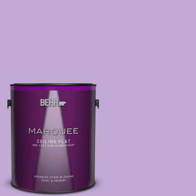 1 gal. #MQ4-59 Purple Gladiola One-Coat Hide Ceiling Flat Interior Paint and Primer in One