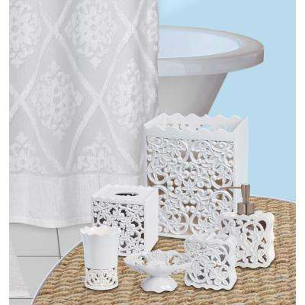 Belle 6-Piece Bath Accessory Set in White