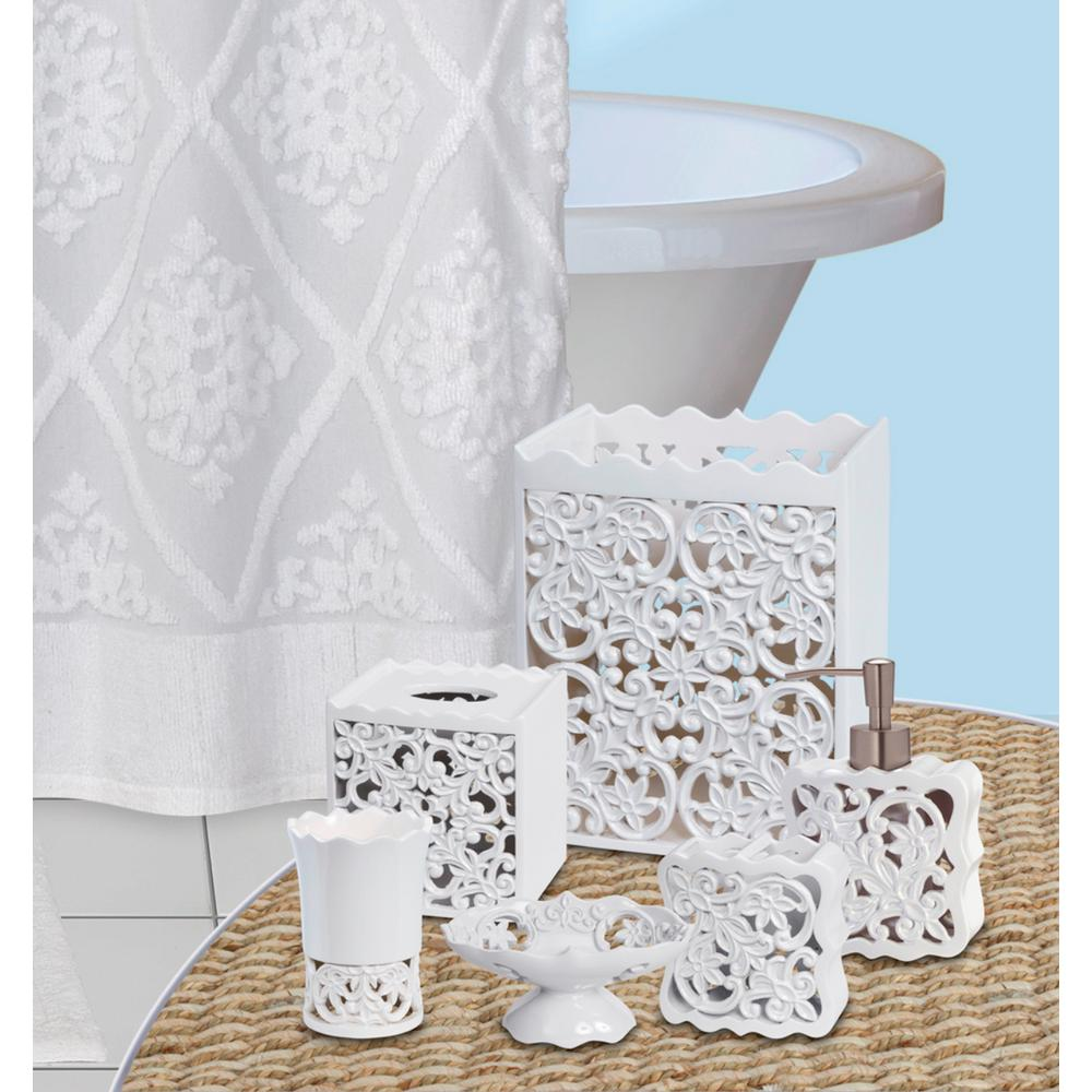 Belle 6-Piece Bath Accessory Set in White