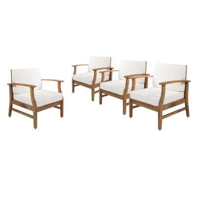 Fantastic White Attached Ties Outdoor Lounge Chairs Patio Chairs Pabps2019 Chair Design Images Pabps2019Com