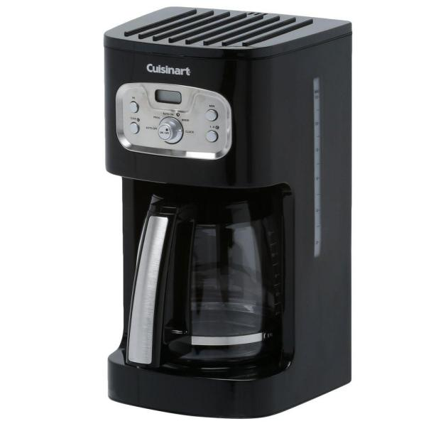 Cuisinart 12-Cup Black Drip Coffee Maker with Programmable Settings