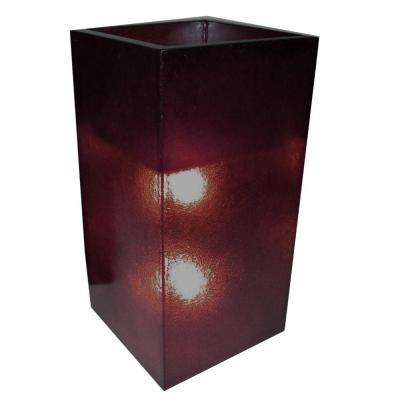 Labota 35 in. Eggplant (Purple) Lighted Planter Lamp