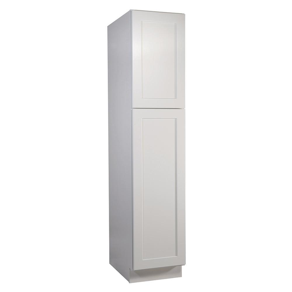 Design House Brookings Plywood Assembled Shaker 18x84x24 in. 2-Door Pantry/Utility Kitchen Cabinet in White