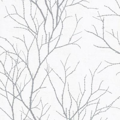56.4 sq. ft. Zola Grey Tree Branch Wallpaper