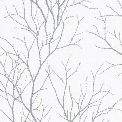Zola Grey Tree Branch Paper Strippable Roll (Covers 56.4 sq. ft.)