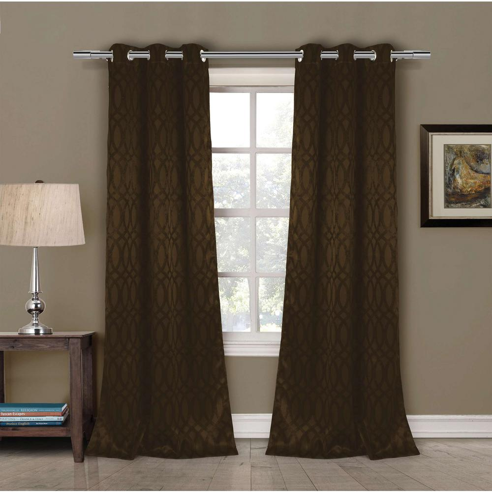 Duck River Blackout Tayla 84 in. L Blackout Grommet Panel in Chocolate (2-Pack)