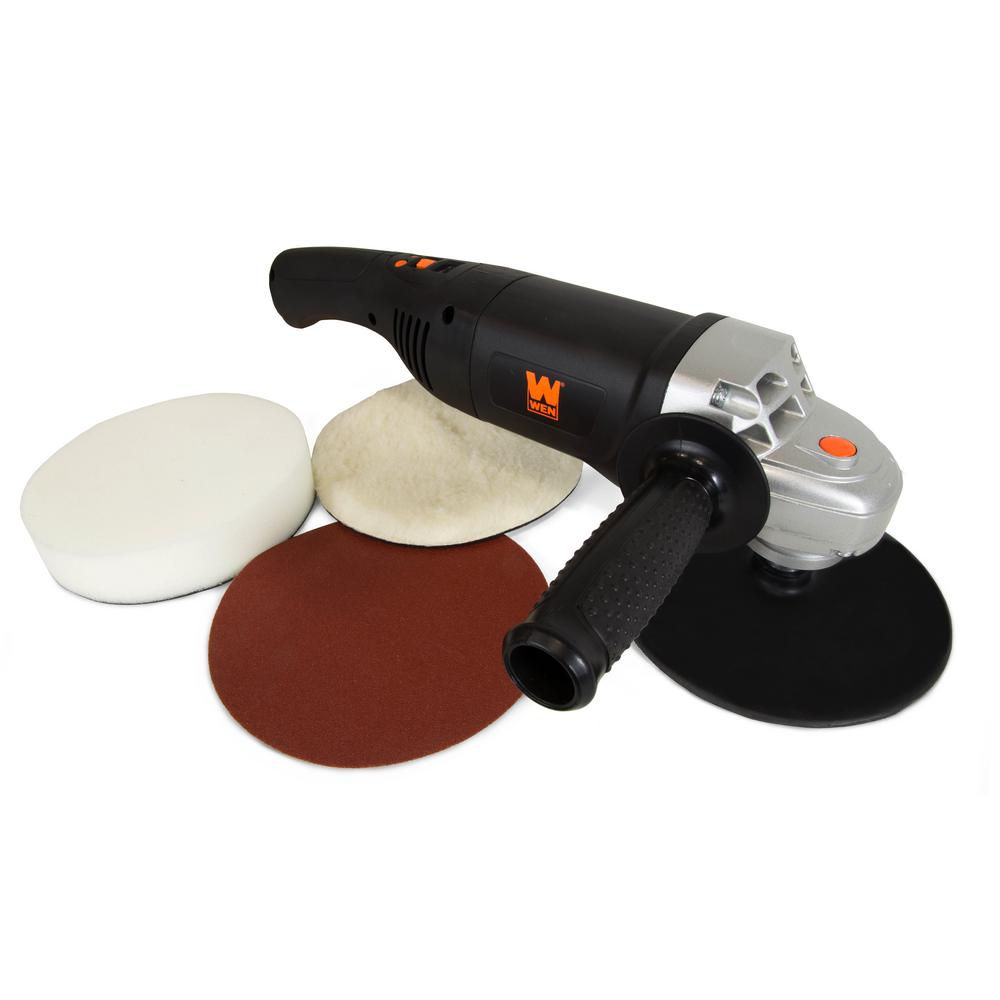 WEN 10-Amp Corded 7 in. Variable Speed Polisher and Power Sander with Digital Readout
