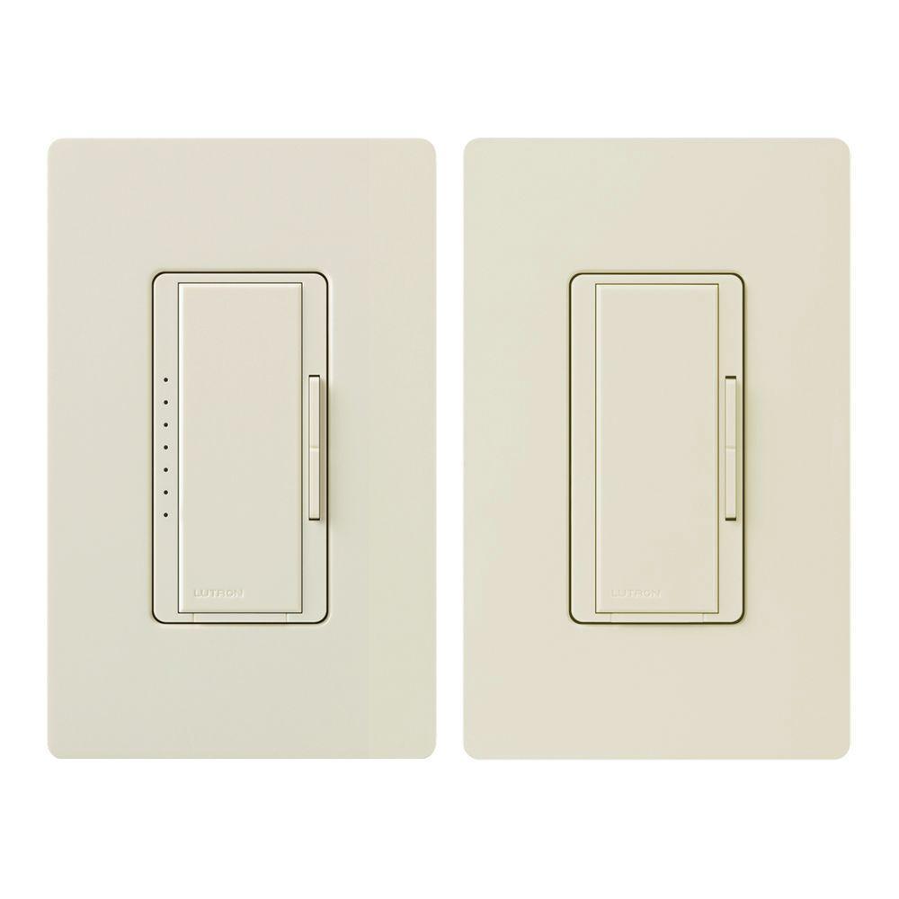 Lutron Maestro 150-Watt Multi-Location Digital CFL-LED Dimmer Kit - Light Almond