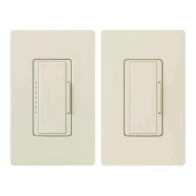 Maestro C.L Dimmer Switch Kit for Dimmable LED, Halogen and Incandescent Bulbs, 3-Way or Multi-Location, Light Almond