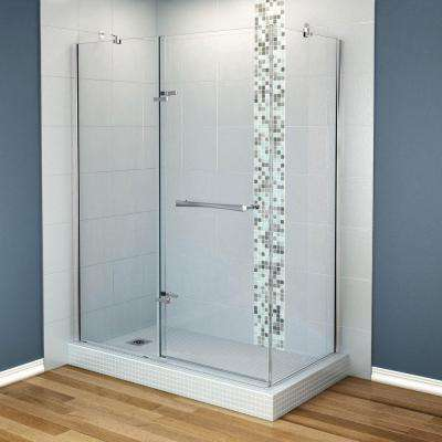 Reveal 29-7/8 in. x 60 in. x 71.5 Corner Shower Enclosure with Chrome Frame and Clear Glass