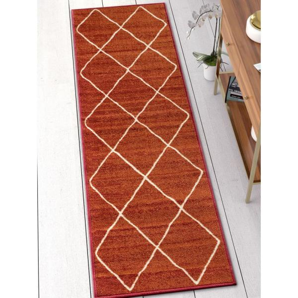 Well Woven Kings Court Clover Red 2 Ft