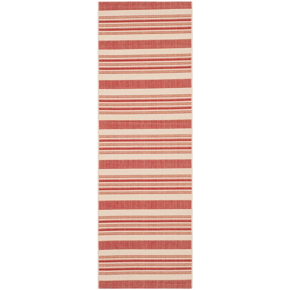 Safavieh Courtyard Beige/Red 2.3 ft. x 6.6 ft. Runner