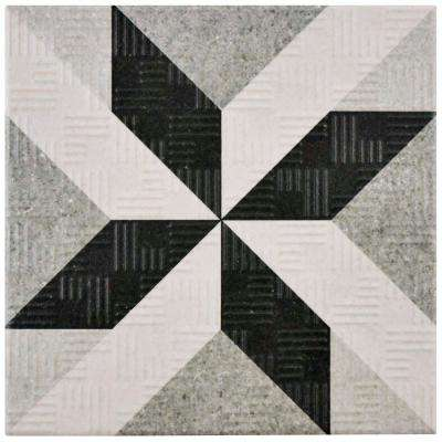 Area 15 Star Grey 6 in. x 6 in. Porcelain Floor and Wall Tile (11.94 sq. ft. / case)