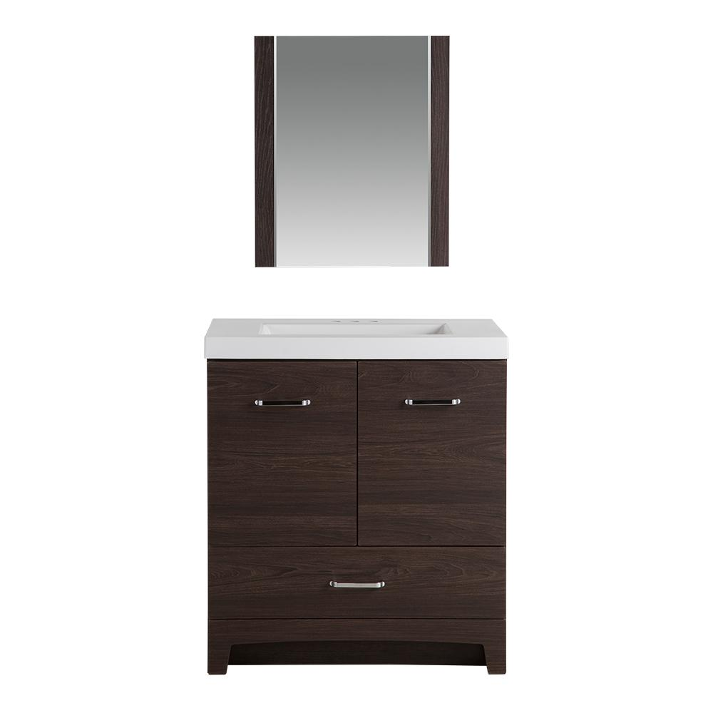 Stancliff 30.5 in. W Vanity in Elm Ember with Cultured Marble