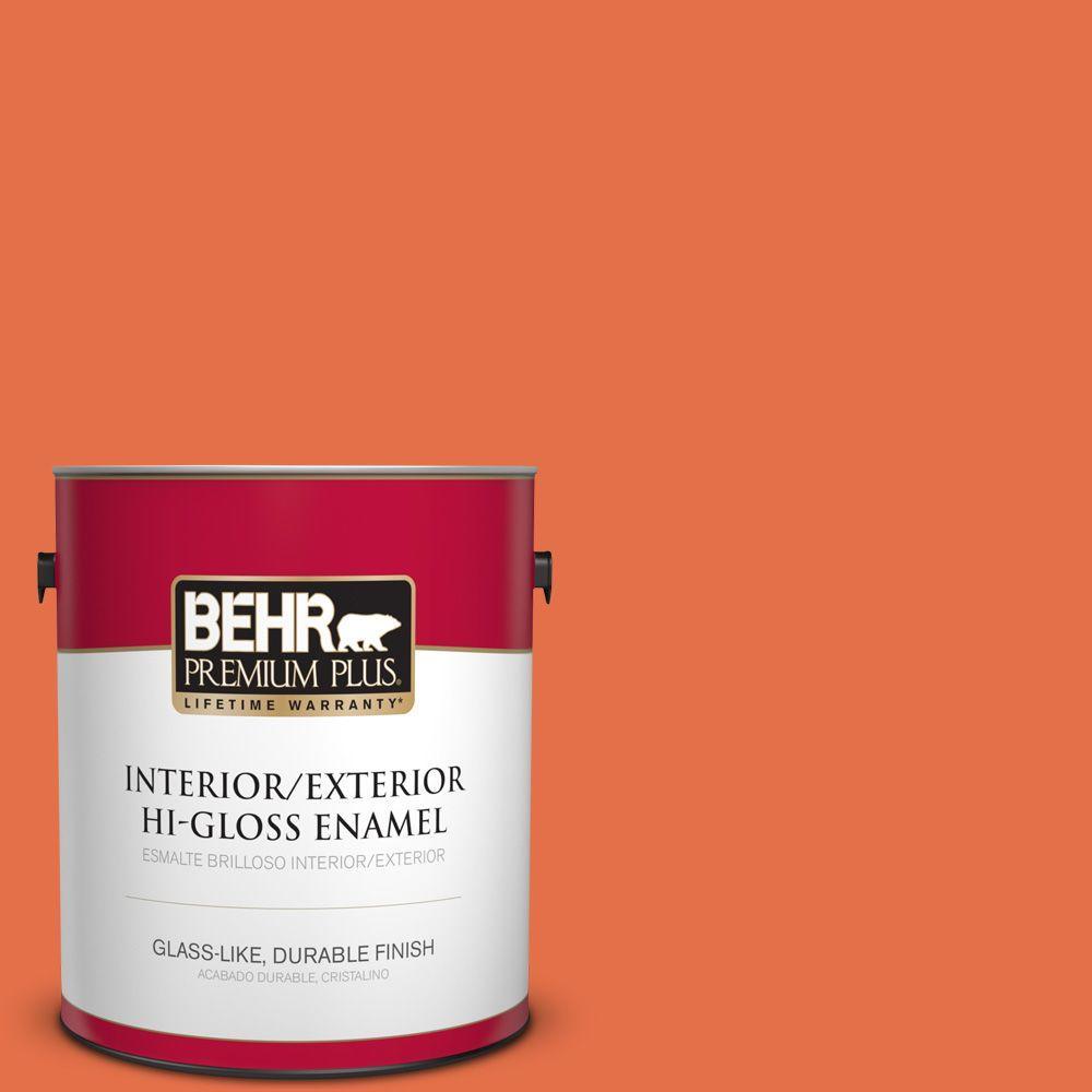 1 gal. #HDC-SM16-03 Mai Tai Hi-Gloss Enamel Interior/Exterior Paint