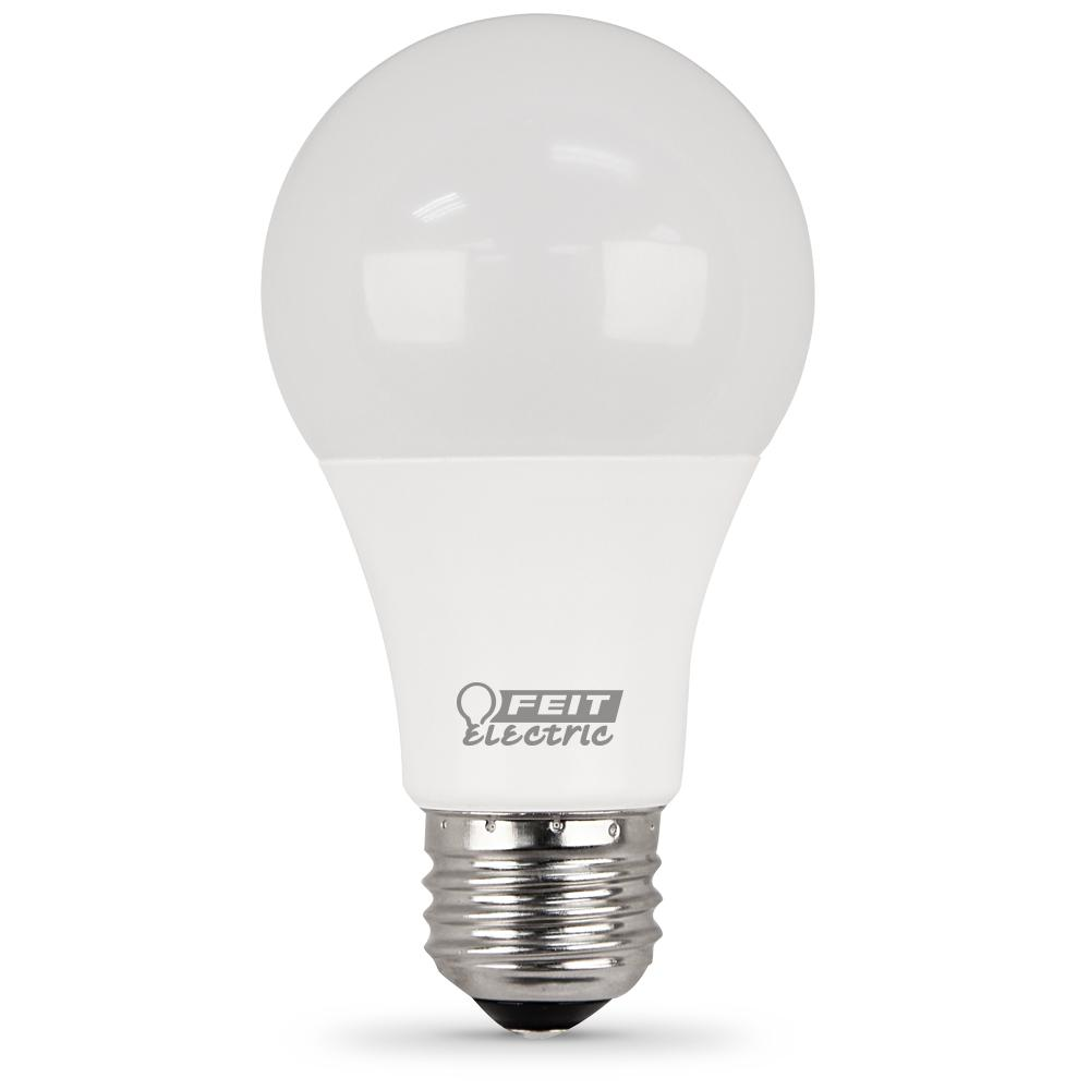 Feit Electric 75W Equivalent Daylight A19 Dimmable LED Medium Base Light Bulb (Case of 12)