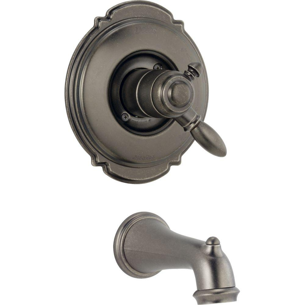 Delta Victorian 1-Handle Tub Filler Faucet in Aged Pewter Trim Kit Only-DISCONTINUED