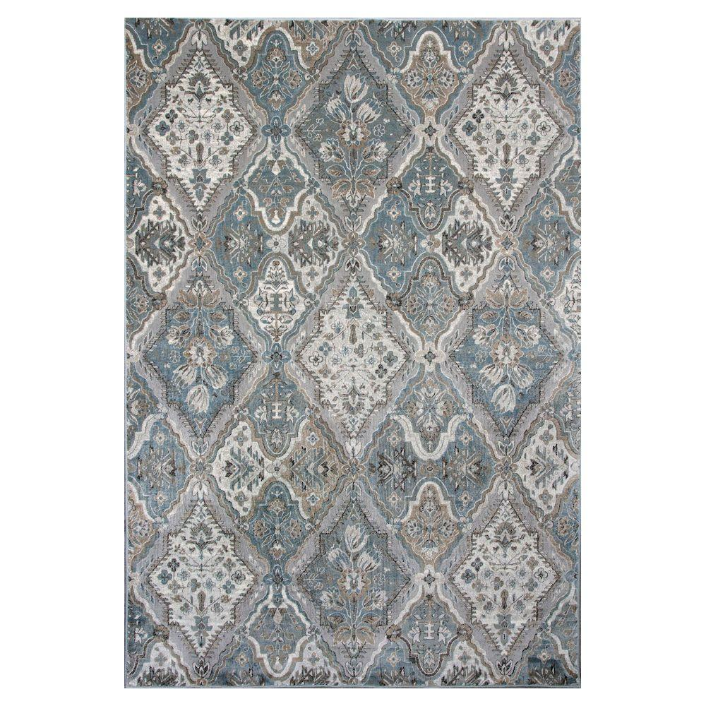 Vintage Diamond Grey 7 ft. 10 in. x 11 ft. 2 in. Area Rug