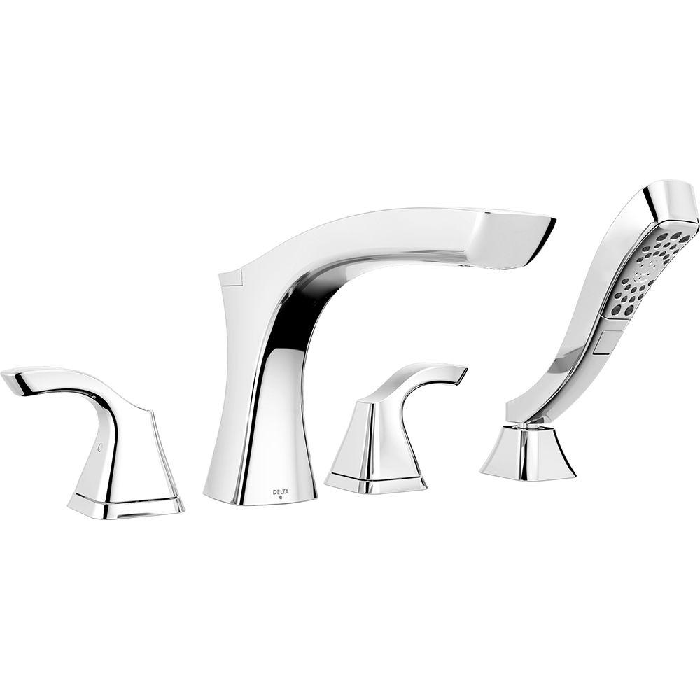 Delta Tesla 2-Handle Deck-Mount Roman Tub Faucet Trim Kit with ...