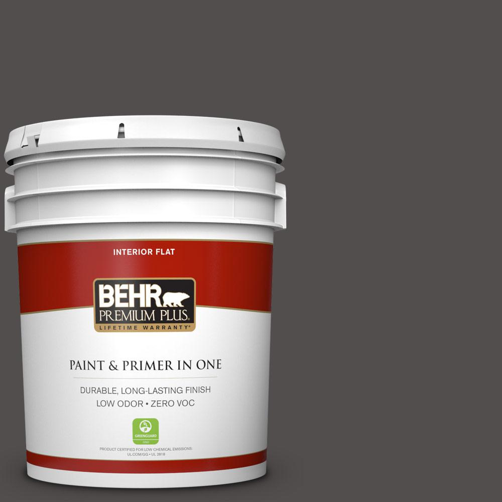 5 gal. #790F-7 Dark Cavern Zero VOC Flat Interior Paint