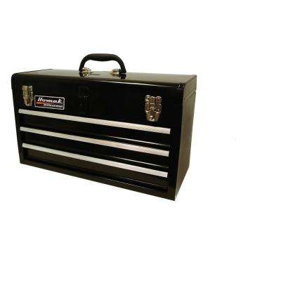 20 in. 3-Drawer Tool Box, Black