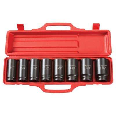 3/4 in. Drive 1 - 1-1/2 in. 6-Point Deep Impact Socket Set