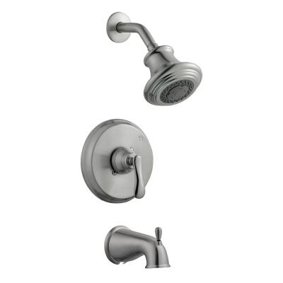 Madison Single-Handle 3-Spray Tub and Shower Faucet in Satin Nickel (Valve Included)