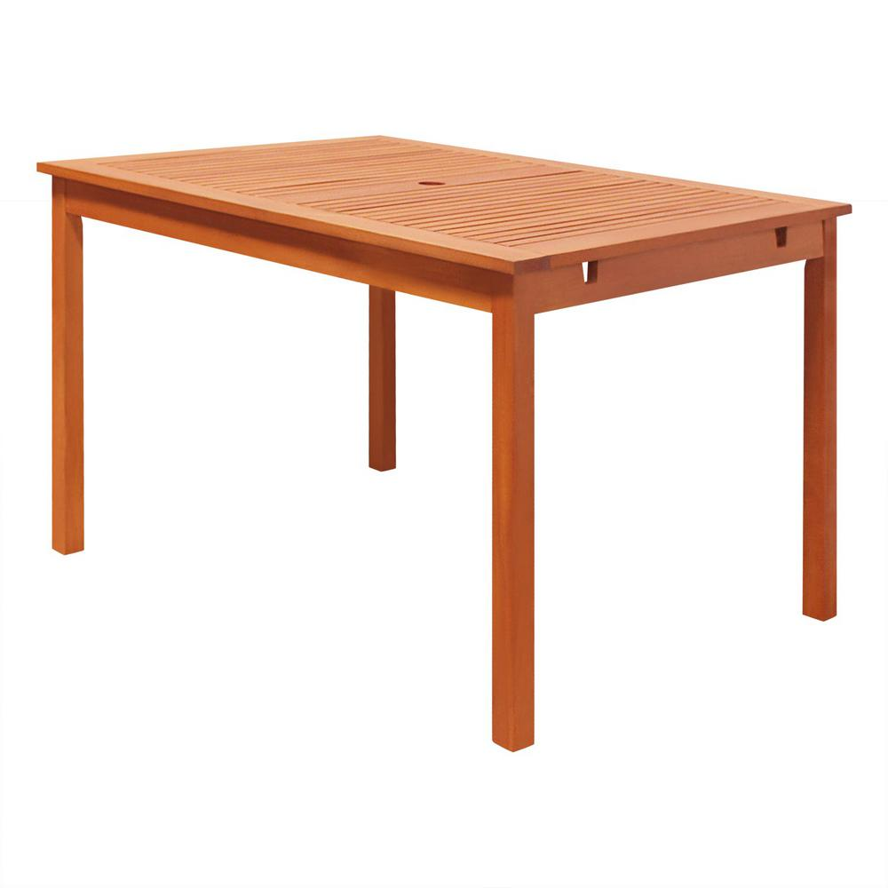 Vifah Malibu Rectangle Outddor Dining Table V1395 The