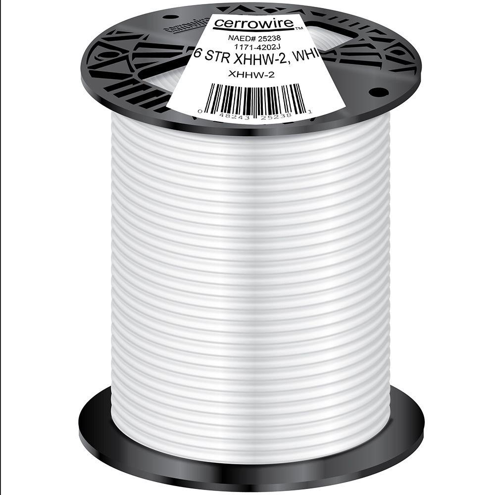500 ft. 6/1 White Stranded XHHW-2 Wire
