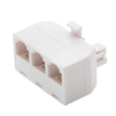 3-Way Telephone Splitter - White