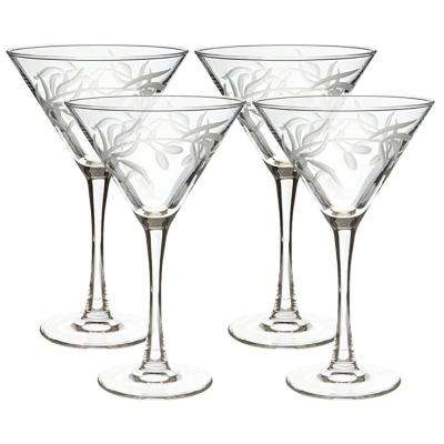 Olive Branch Clear 10 oz. Martini Glass (Set of 4)