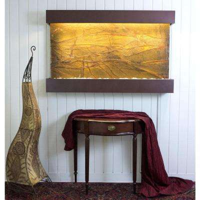 Classic Quarry Large Horizon Falls Rainforest Brown Marble with Copper Vein Trim Kit Fountain