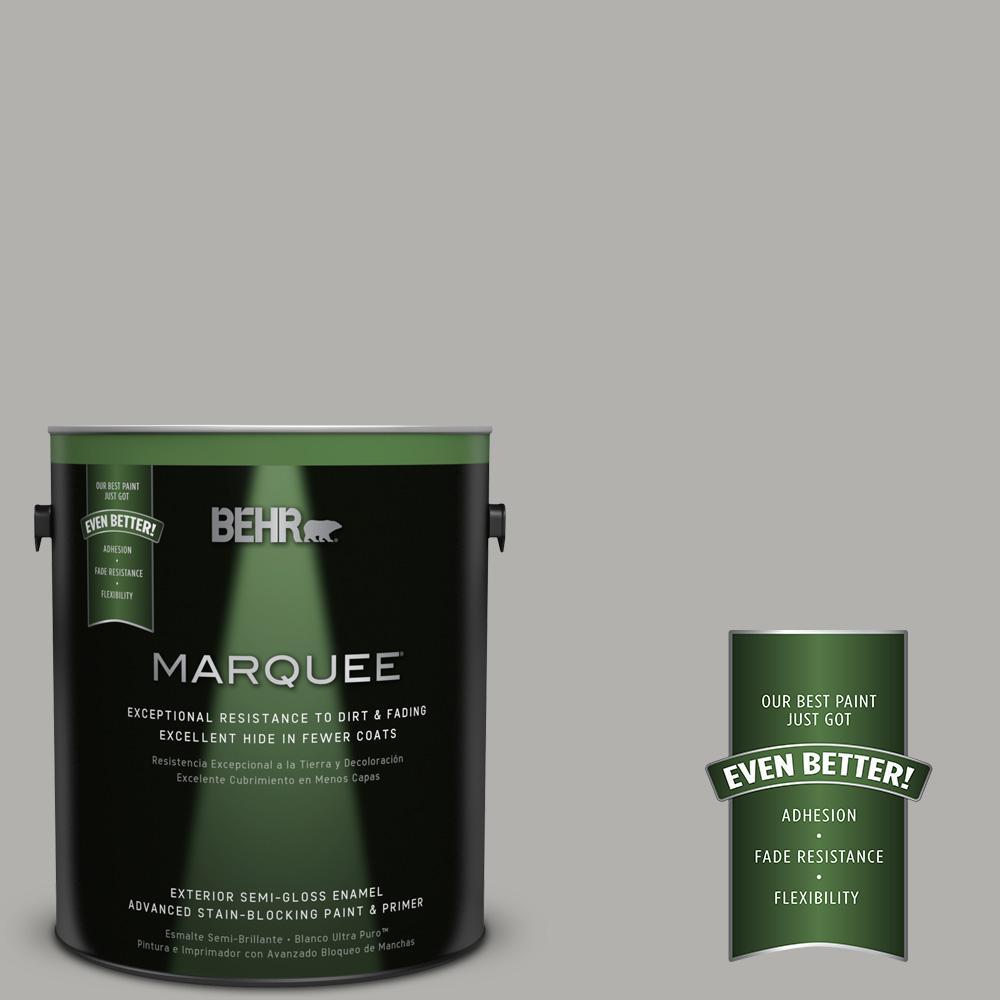 1-gal. #BXC-25 Colonnade Gray Semi-Gloss Enamel Exterior Paint
