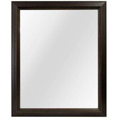 26 in. W x 32 in. L Framed Fog Free Wall Mirror in Antique Bronze
