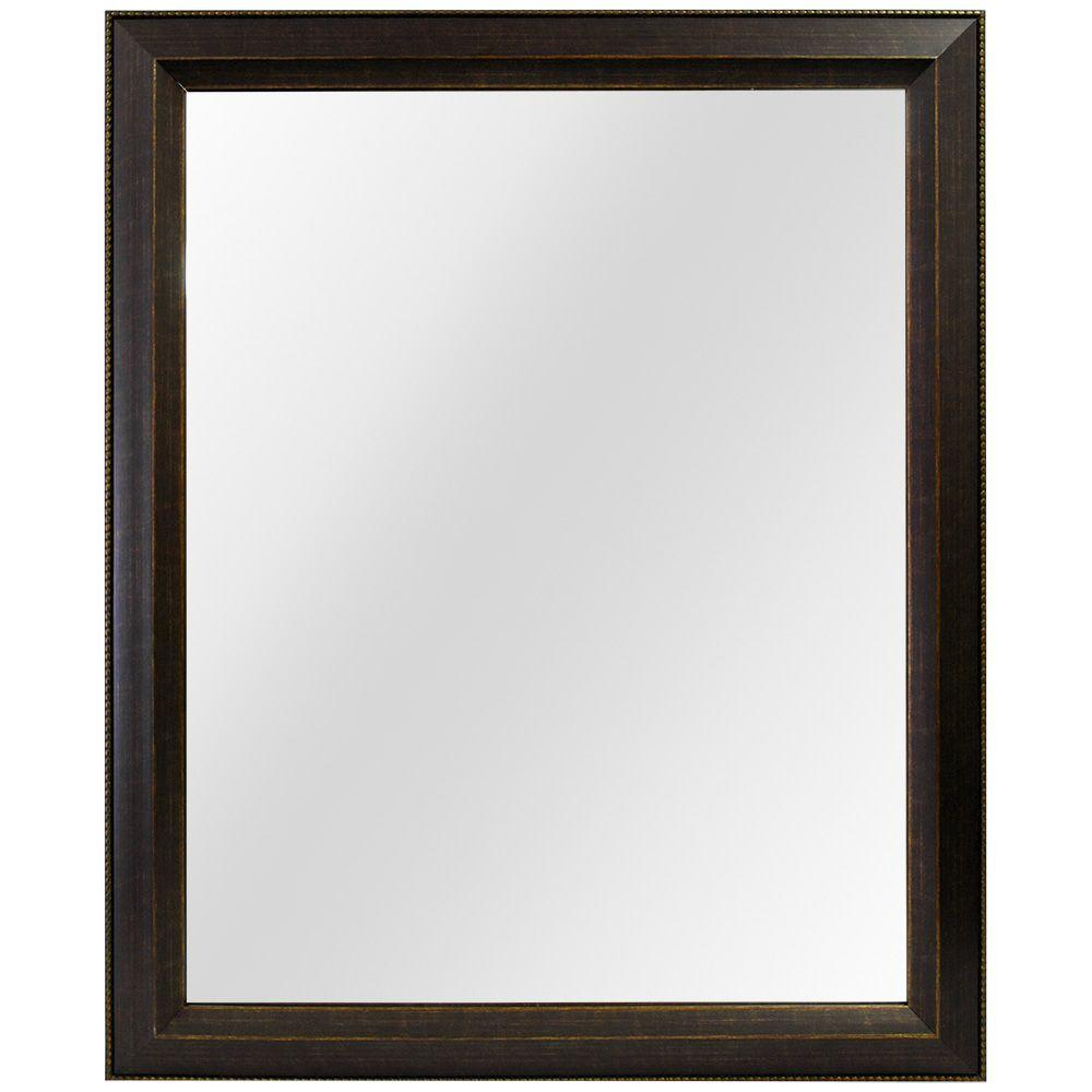 Home decorators collection in w x in l framed fog free wall mirror in antique - Home decor wall mirrors collection ...