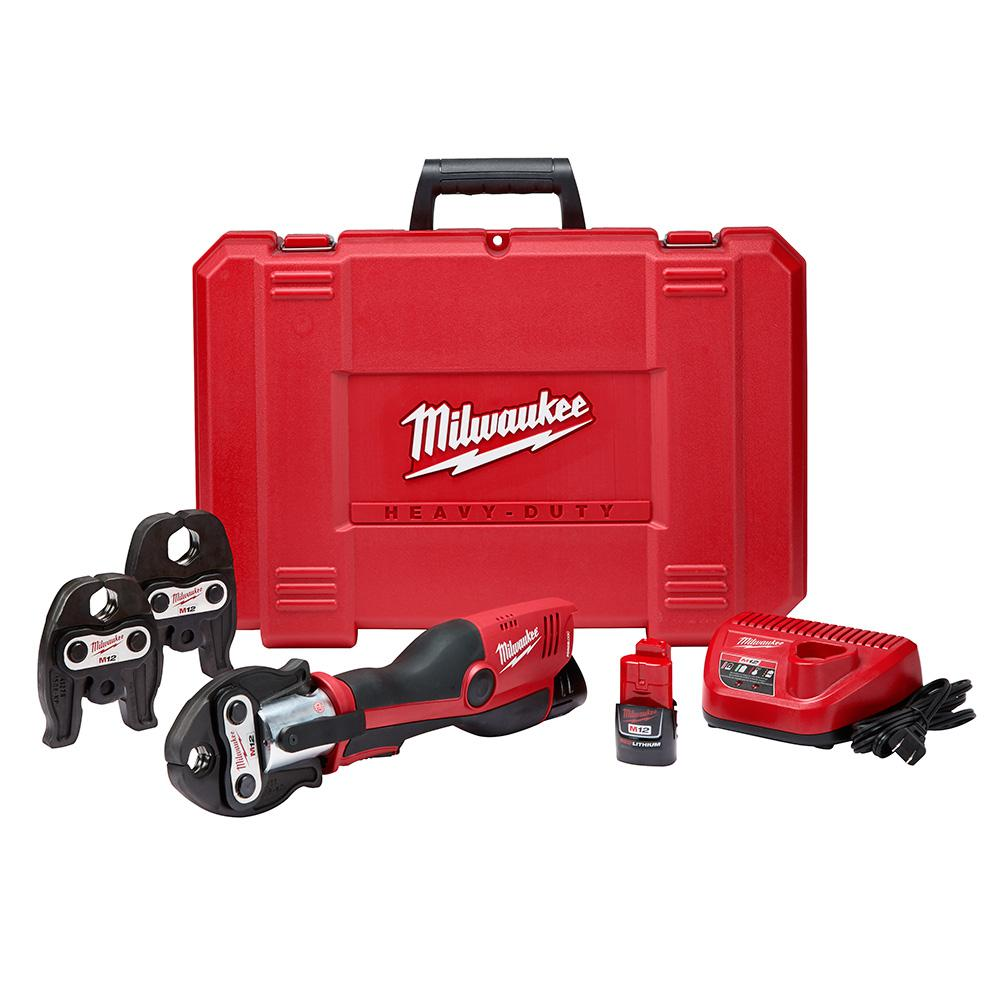 M12 12-Volt Lithium-Ion Force Logic Cordless Press Tool Kit (3 Jaws