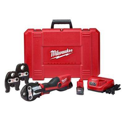 M12 12-Volt Lithium-Ion Force Logic Cordless Press Tool Kit (3 Jaws Included) W/(2) 1.5Ah Battery & Hard Case