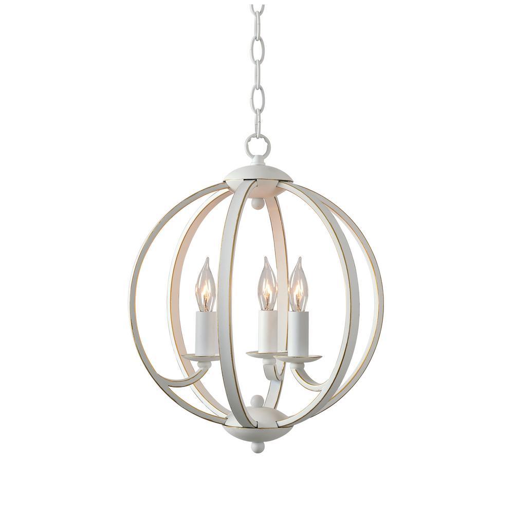 Kenroy home opal 3 light white chandelier kenroy home opal 3 light white chandelier aloadofball Images