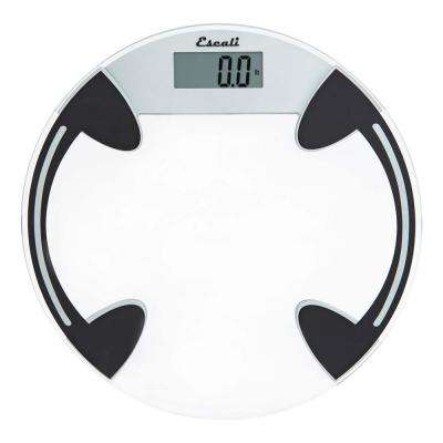 Digital Glass Platform Bathroom Scale in Clear
