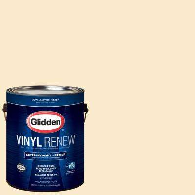 1 gal. #HDGY06U Popcorn White Low-Lustre Exterior Paint with Primer