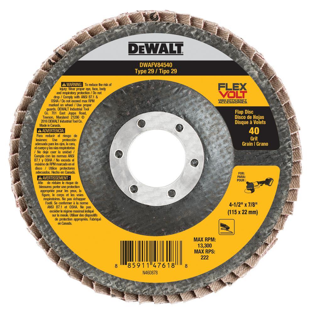 FlexVolt 4-1/2 in. x 7/8 in. 40 Grit Flap Disc
