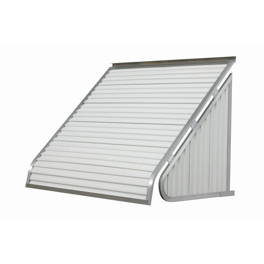 NuImage Awnings 4 ft. 3500 Series Aluminum Window Awning (24 in. H x 20 in. D) in White