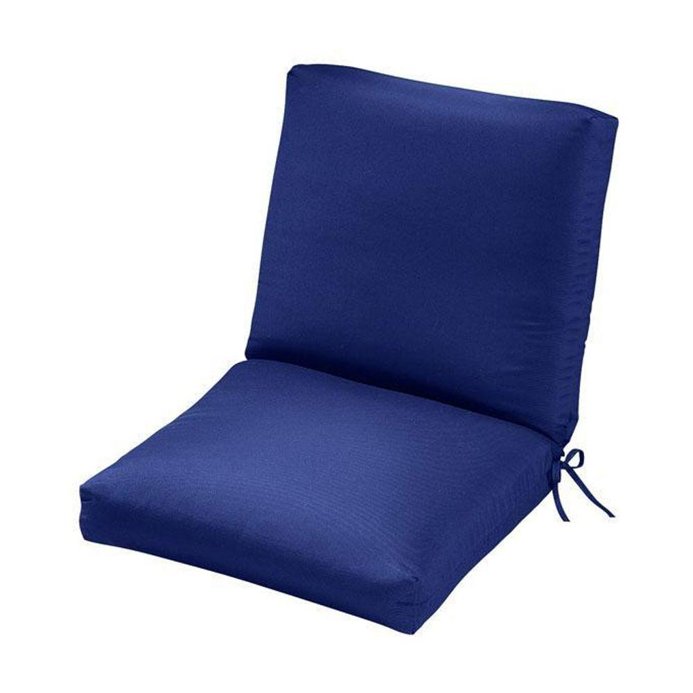 Home Decorators Collection Sunbrella Blue Outdoor Dining Chair Cushion